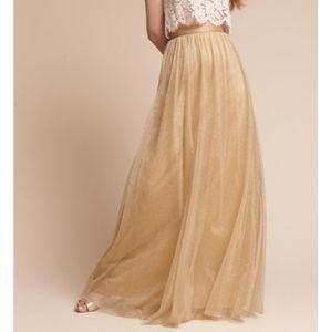 NWT BHLDN Jenny Yoo Gold Louise tulle skirt Size 6